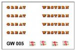 MMGW005 Modelmaster Decals - G.W.R. 1927-1934 Three pairs of loco lettering